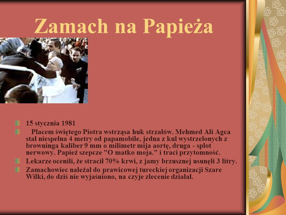 Zamach na Papieża 15 stycznia 1981