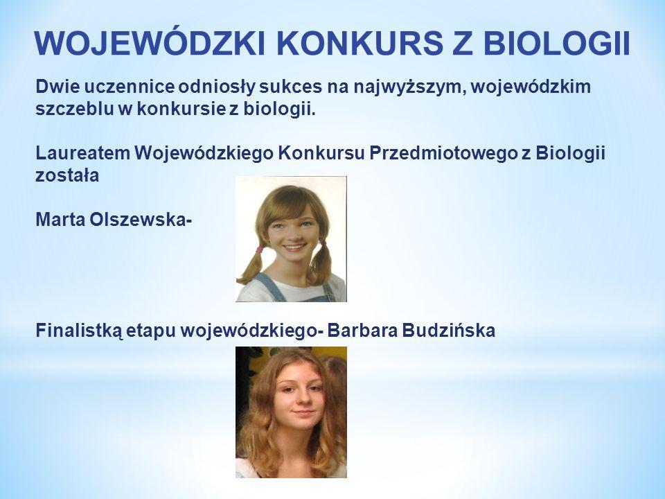 WOJEWÓDZKI KONKURS Z BIOLOGII