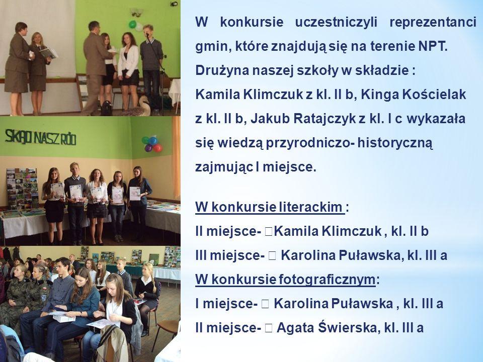 W konkursie uczestniczyli reprezentanci gmin, które znajdują się na terenie NPT.