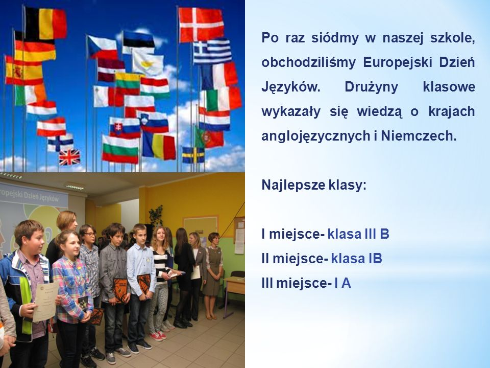 Po raz siódmy w naszej szkole, obchodziliśmy Europejski Dzień Języków