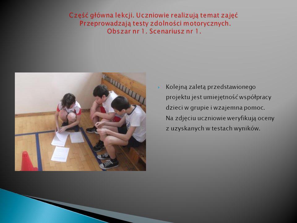 Część główna lekcji. Uczniowie realizują temat zajęć