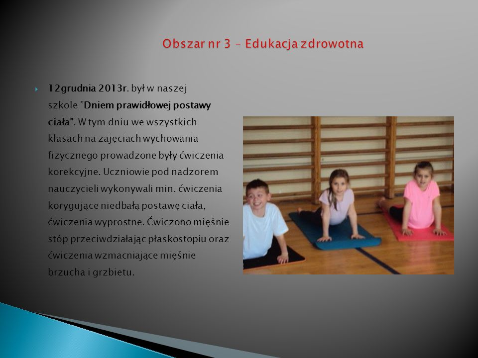 Obszar nr 3 – Edukacja zdrowotna