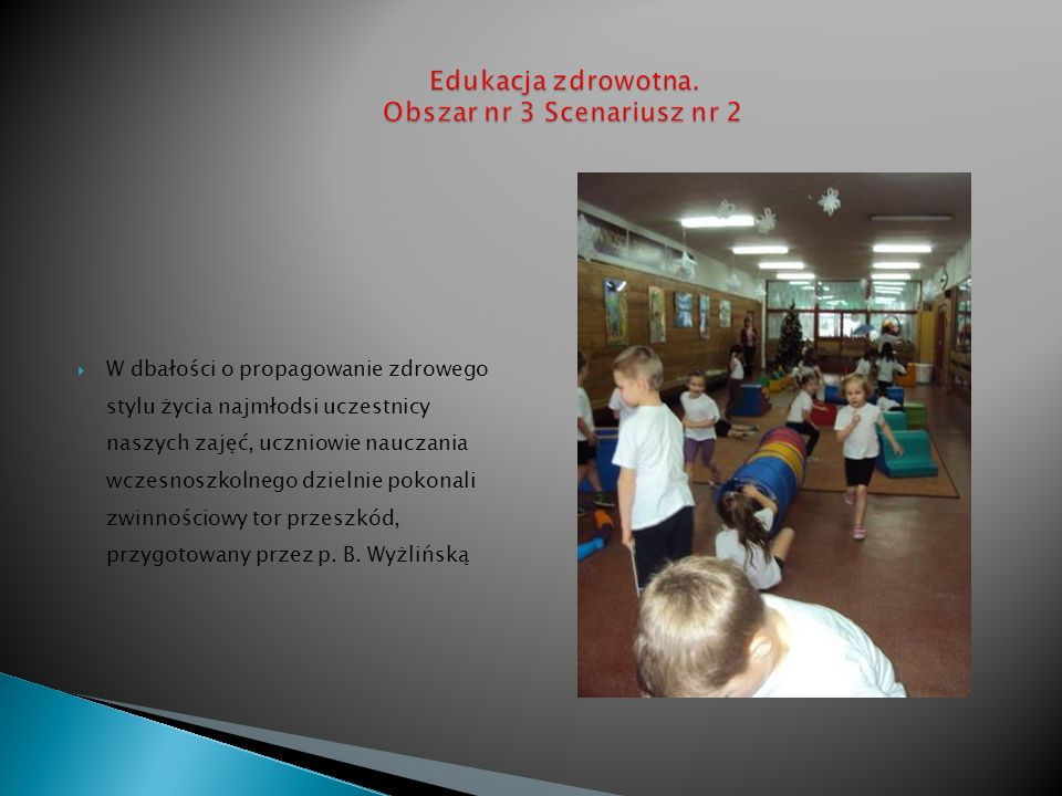 Edukacja zdrowotna. Obszar nr 3 Scenariusz nr 2