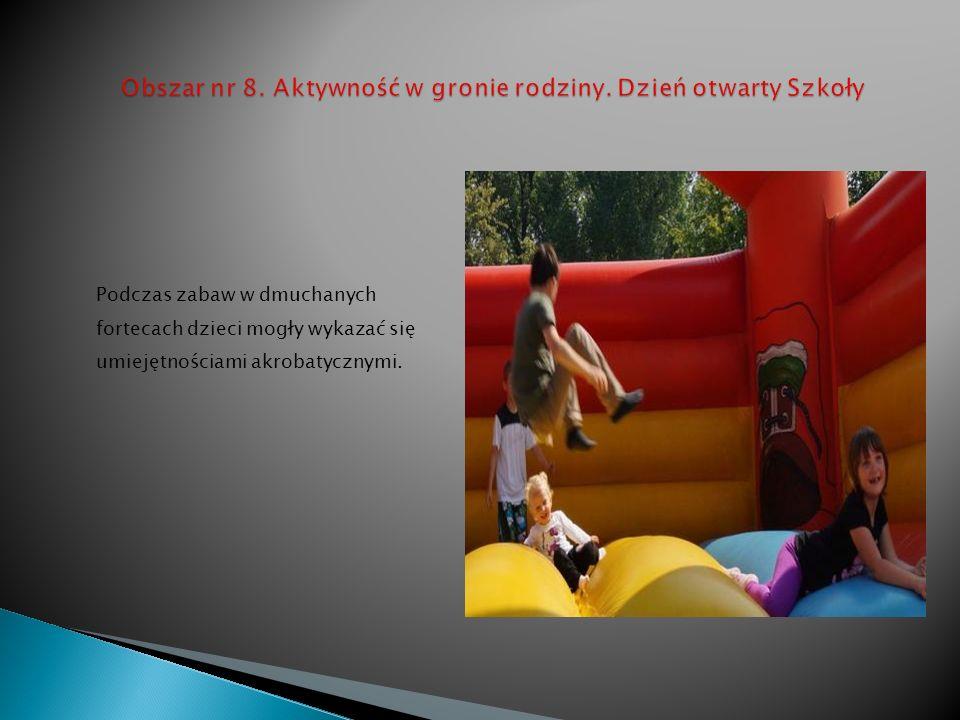 Obszar nr 8. Aktywność w gronie rodziny. Dzień otwarty Szkoły