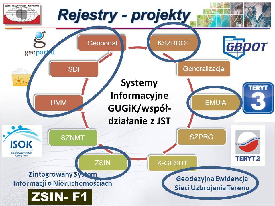 Rejestry - projekty ZSIN- F1