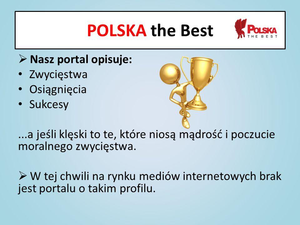 POLSKA the Best Nasz portal opisuje: Zwycięstwa Osiągnięcia Sukcesy