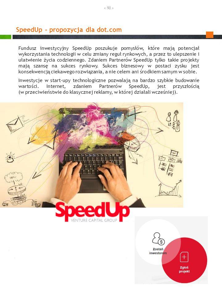 SpeedUp – propozycja dla dot.com