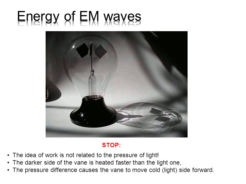 Energy of EM waves STOP: