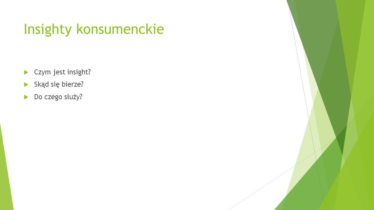 Insighty konsumenckie