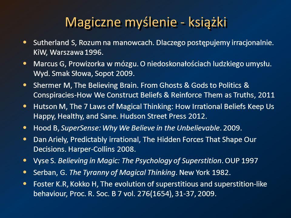 Magiczne myślenie - książki