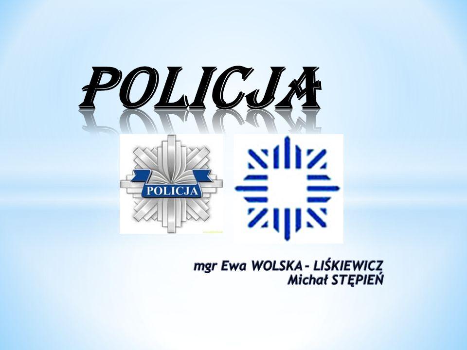 POLICJA mgr Ewa WOLSKA - LIŚKIEWICZ Michał STĘPIEŃ