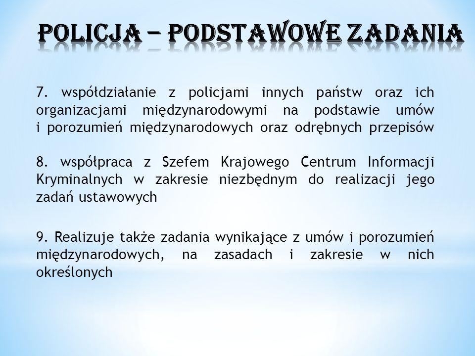 POLICJA – PODSTAWOWE ZADANIA