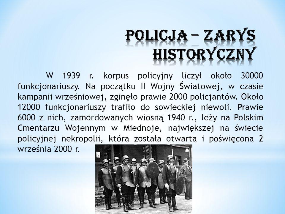 POLICJA – ZARYS HISTORYCZNY