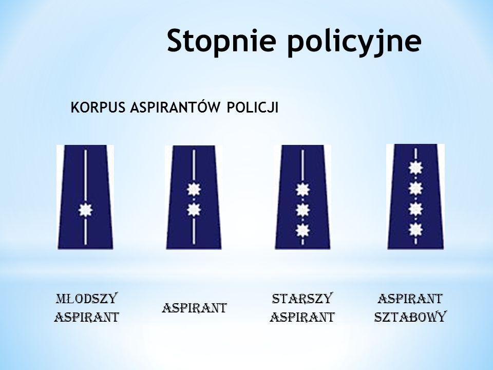 Stopnie policyjne KORPUS ASPIRANTÓW POLICJI MŁODSZY ASPIRANT ASPIRANT