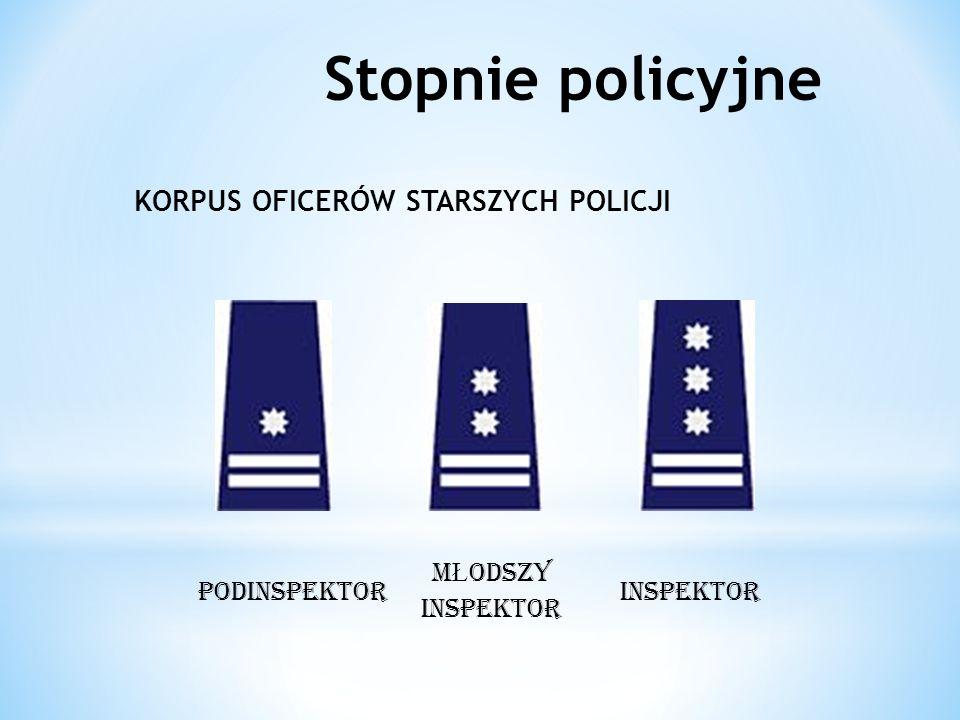 Stopnie policyjne KORPUS OFICERÓW STARSZYCH POLICJI podINSPEKTOR