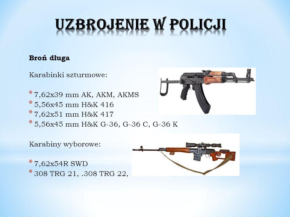 UZBROJENIE W POLICJI Broń długa Karabinki szturmowe: