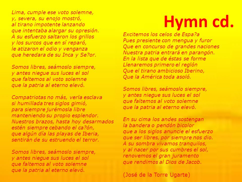 Hymn cd. (José de la Torre Ugarte)