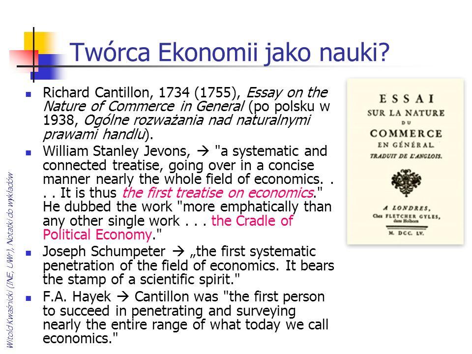 Twórca Ekonomii jako nauki