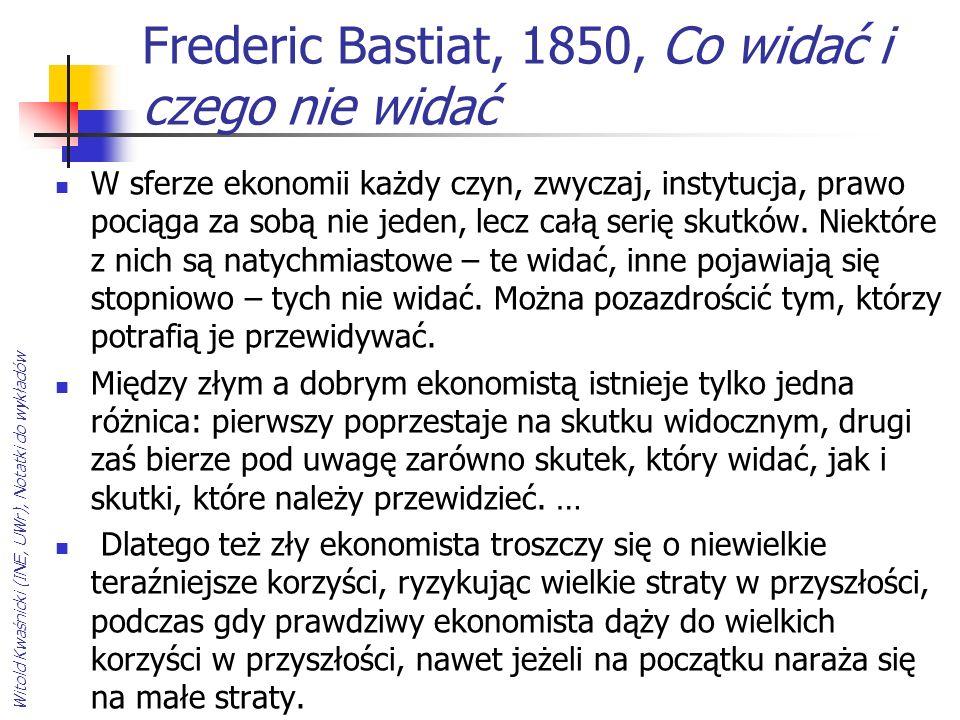 Frederic Bastiat, 1850, Co widać i czego nie widać