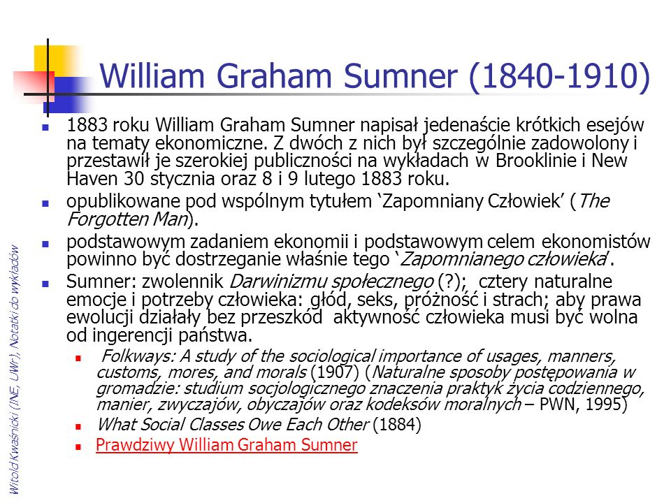 William Graham Sumner ( )