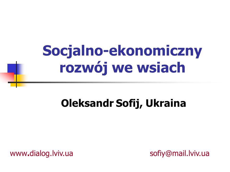 Socjalno-ekonomiczny rozwój we wsiach