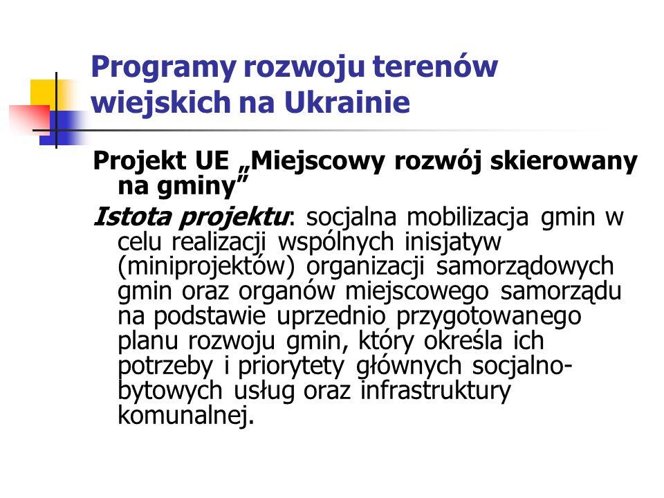 Programy rozwoju terenów wiejskich na Ukrainie