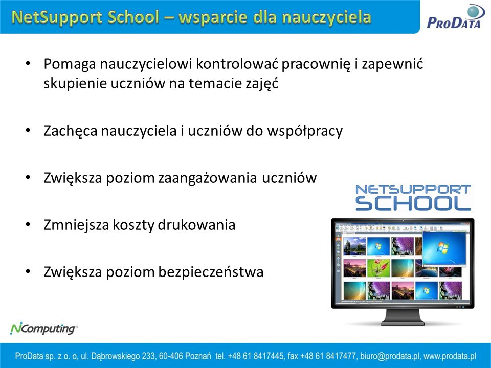 NetSupport School – wsparcie dla nauczyciela