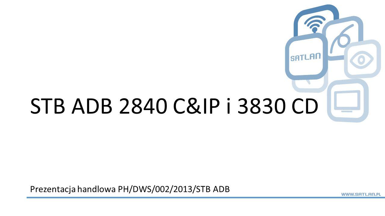 Prezentacja handlowa PH/DWS/002/2013/STB ADB