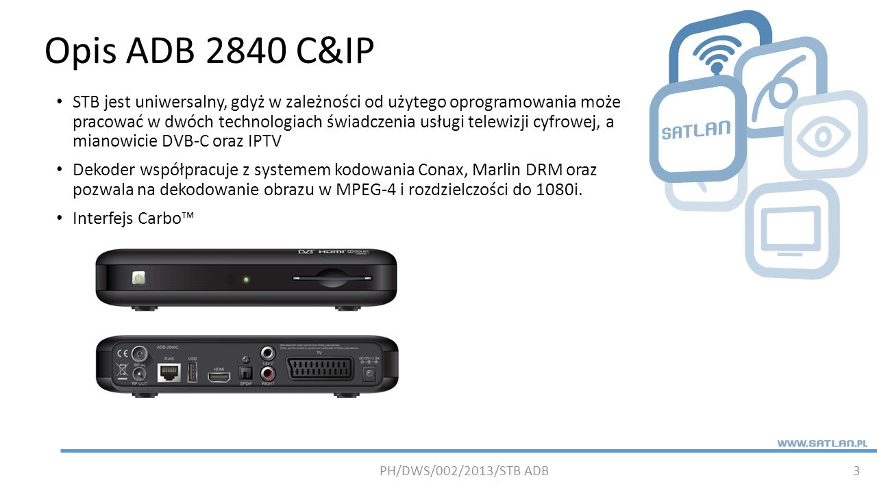 Opis ADB 2840 C&IP