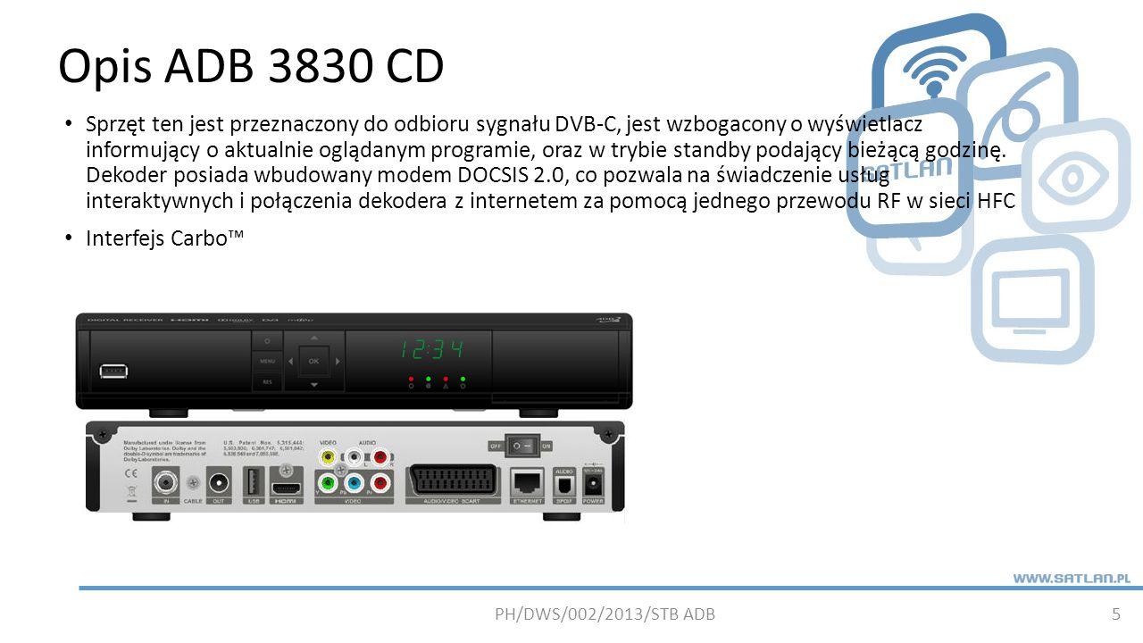 Opis ADB 3830 CD