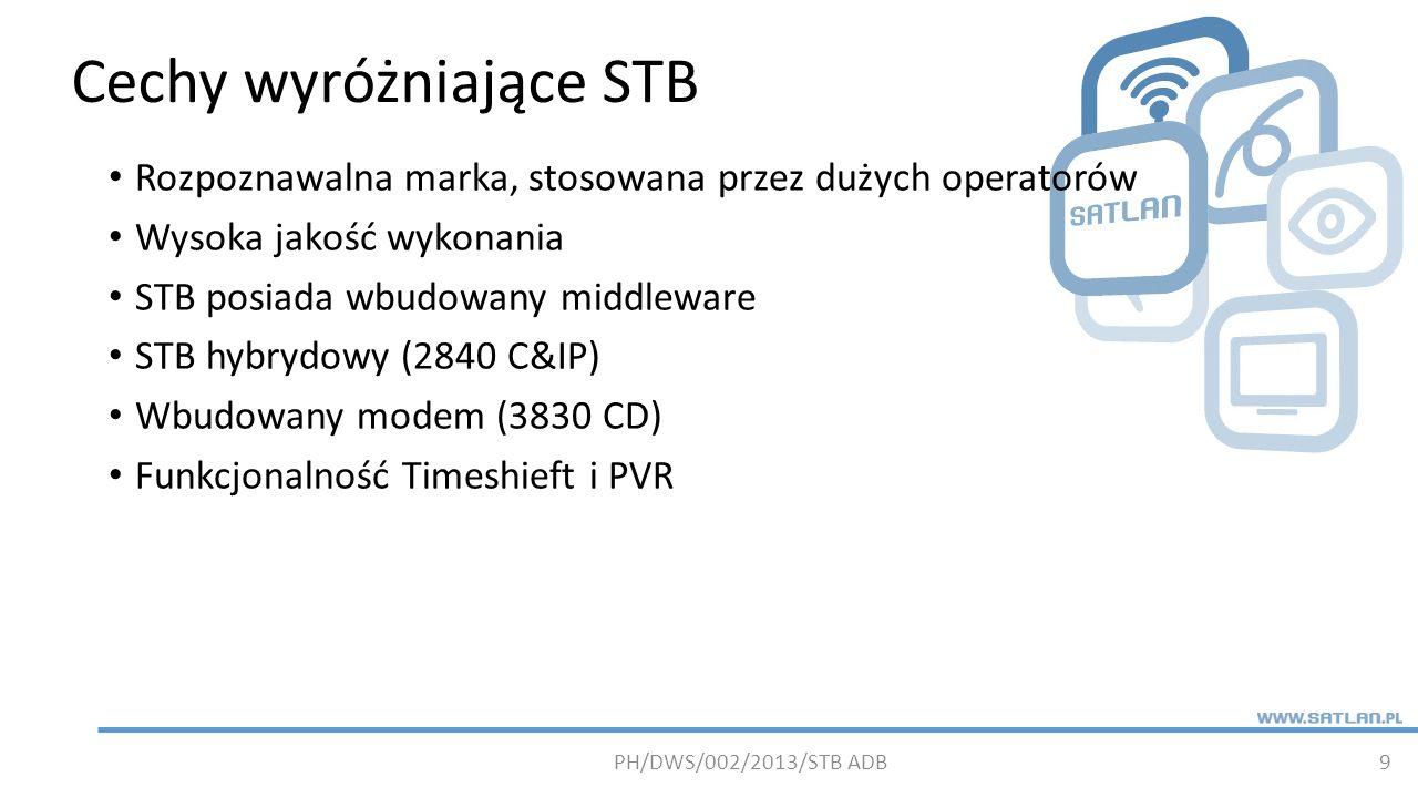Cechy wyróżniające STB