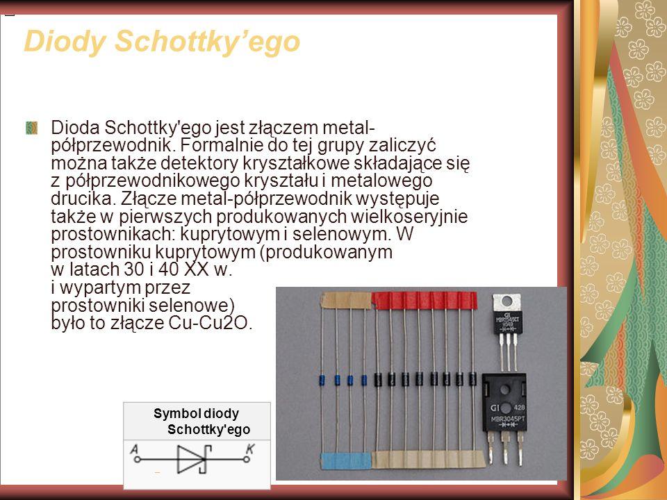 Symbol diody Schottky ego