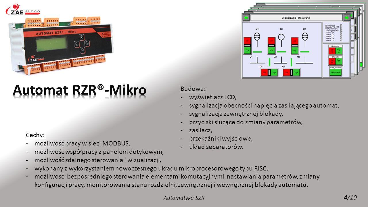 Automat RZR®-Mikro Budowa: wyświetlacz LCD,