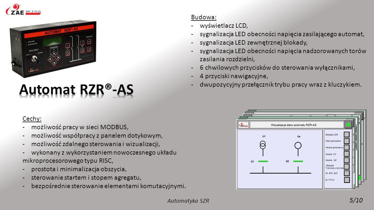 Automat RZR®-AS Budowa: wyświetlacz LCD,