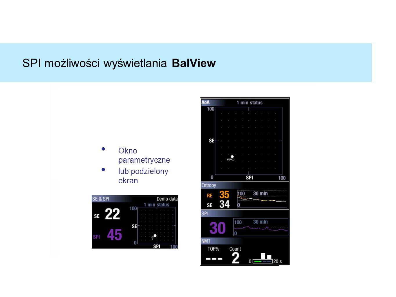 SPI możliwości wyświetlania BalView