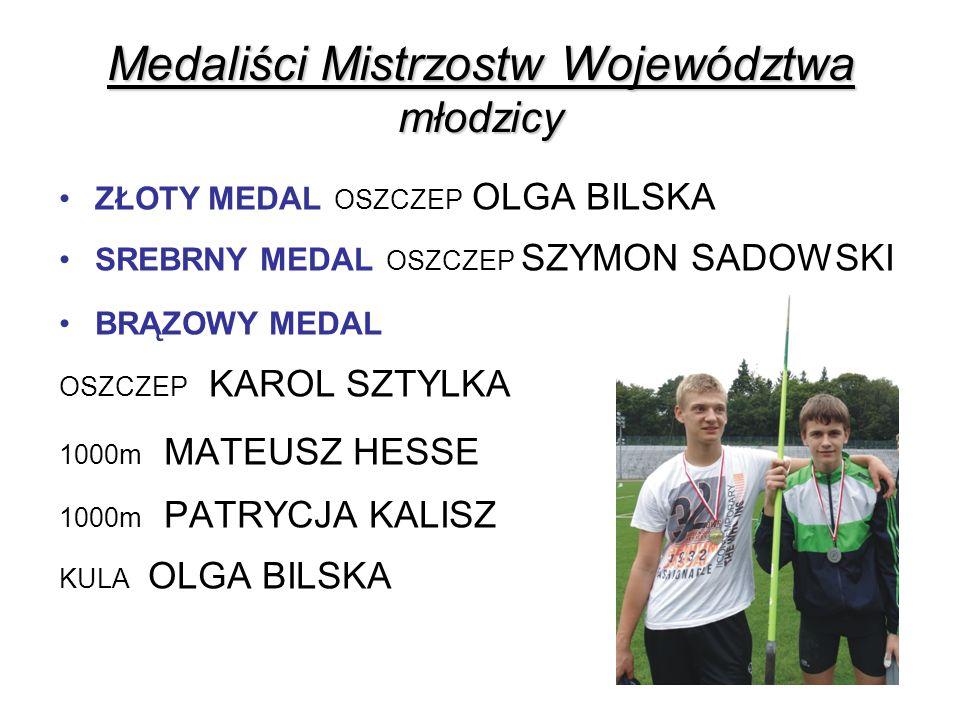 Medaliści Mistrzostw Województwa młodzicy