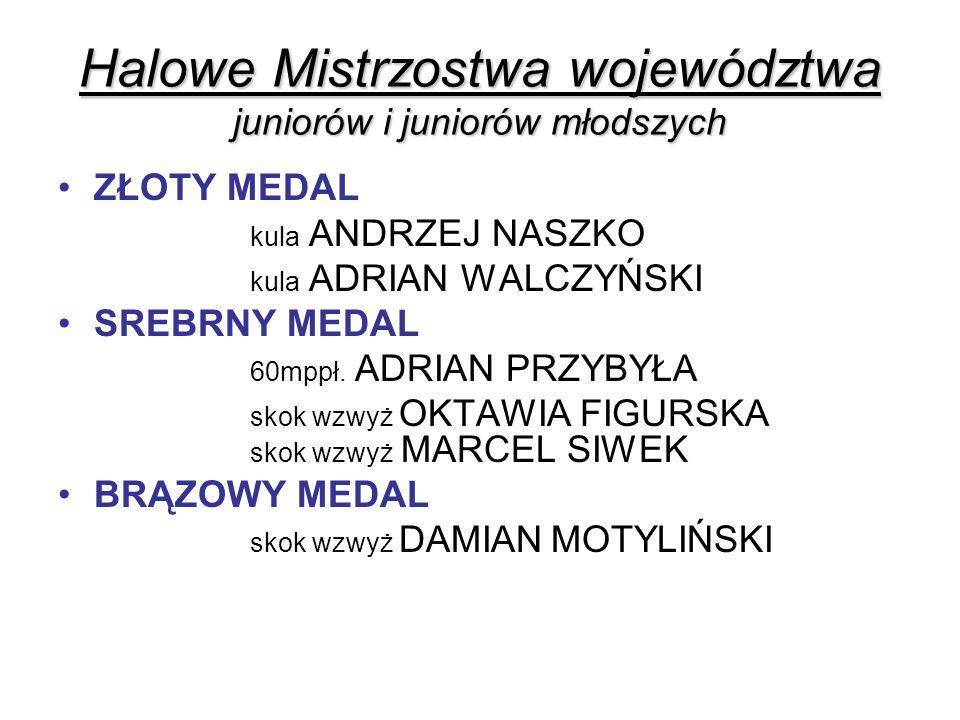 Halowe Mistrzostwa województwa juniorów i juniorów młodszych