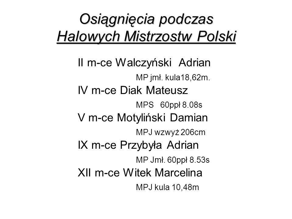 Osiągnięcia podczas Halowych Mistrzostw Polski