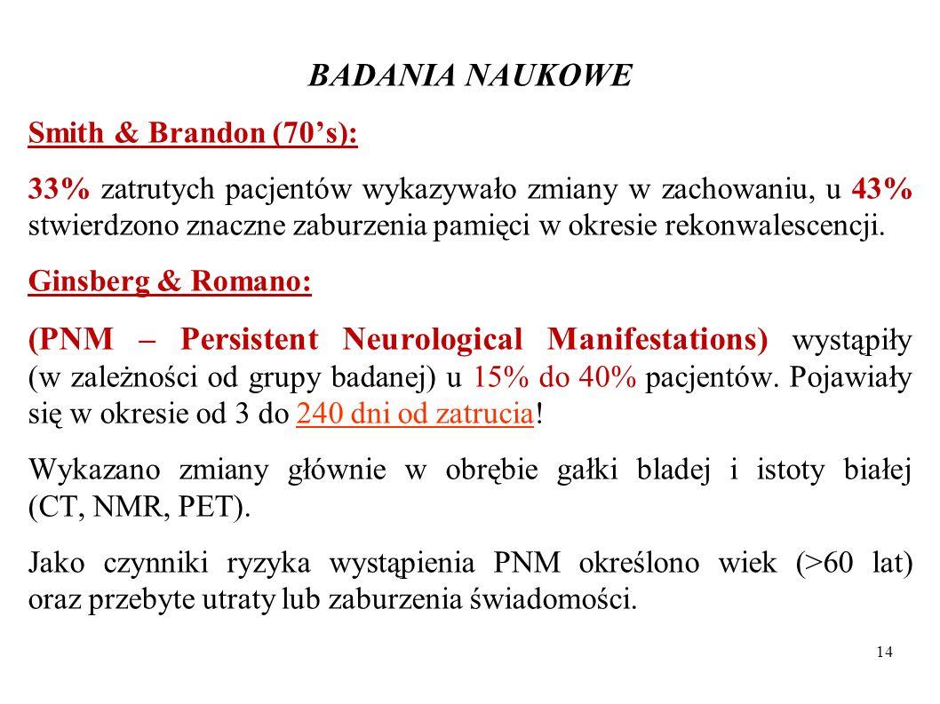 BADANIA NAUKOWESmith & Brandon (70's):