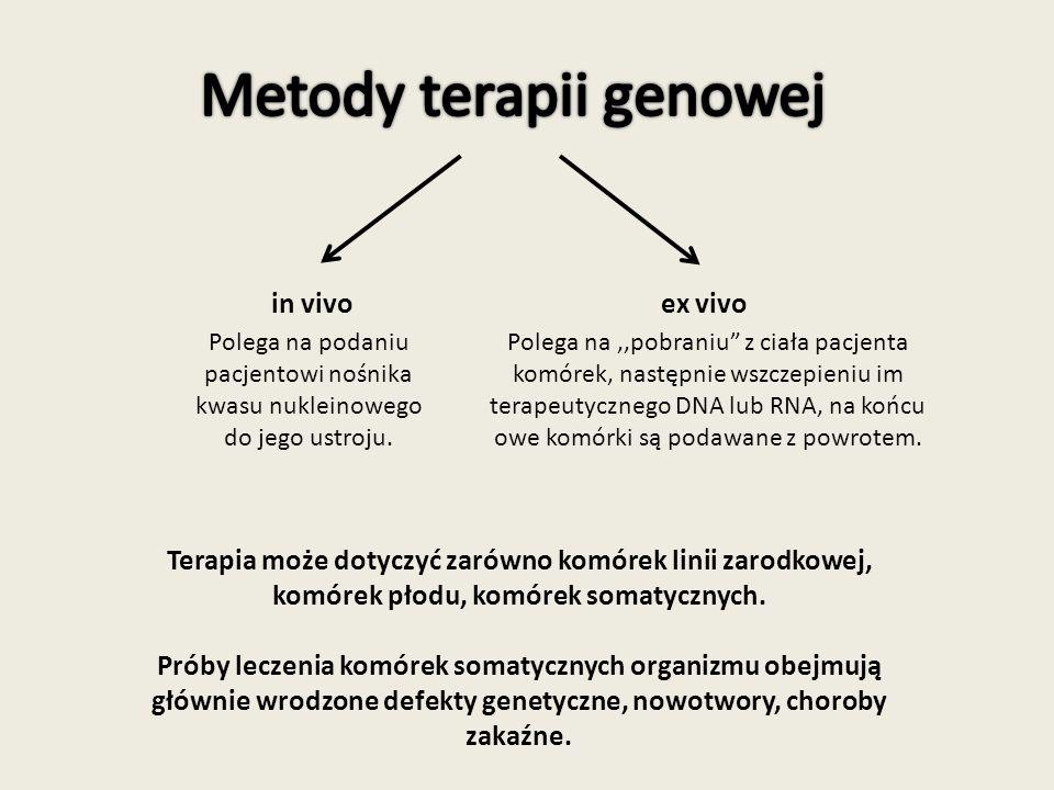 Metody terapii genowej