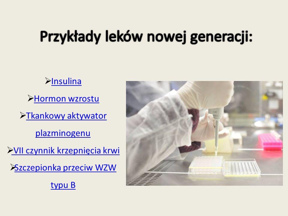 Przykłady leków nowej generacji: