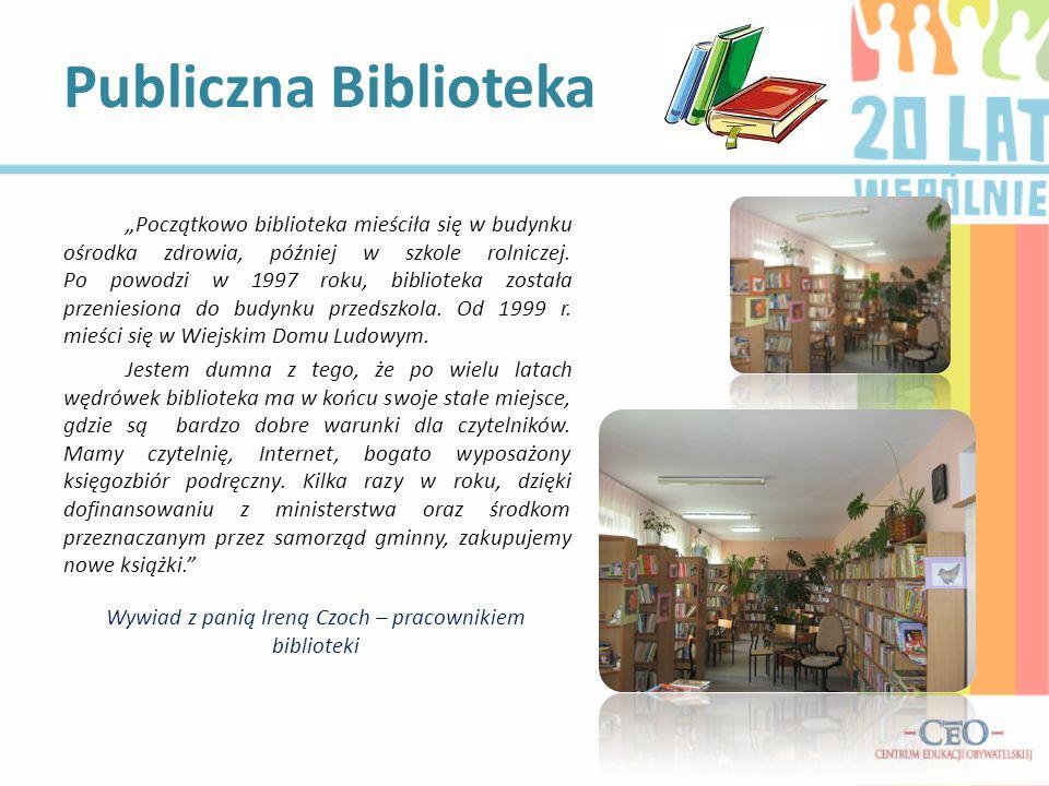 Wywiad z panią Ireną Czoch – pracownikiem biblioteki