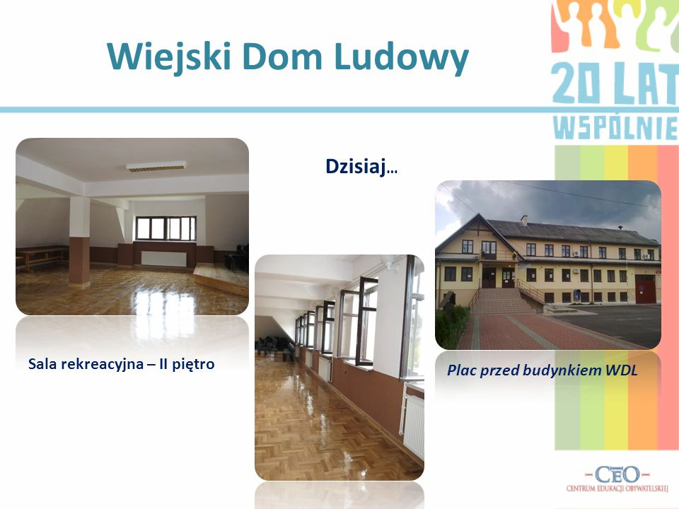 Wiejski Dom Ludowy Dzisiaj… Sala rekreacyjna – II piętro