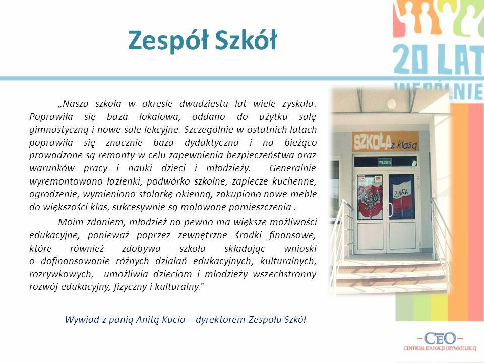 Wywiad z panią Anitą Kucia – dyrektorem Zespołu Szkół