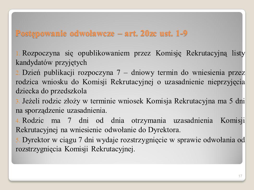 Postępowanie odwoławcze – art. 20zc ust. 1-9