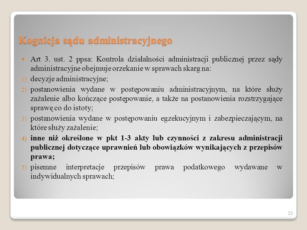 Kognicja sądu administracyjnego