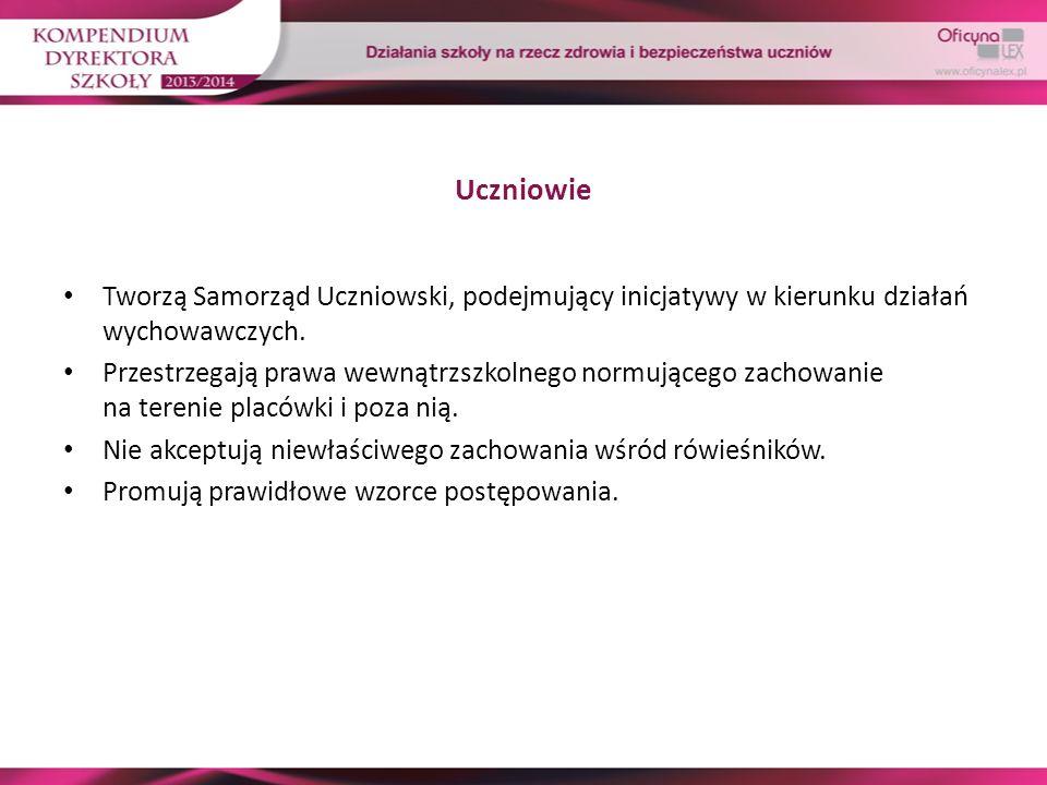 Uczniowie Tworzą Samorząd Uczniowski, podejmujący inicjatywy w kierunku działań wychowawczych.