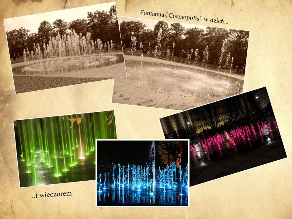 """Fontanna """"Cosmopolis w dzień..."""