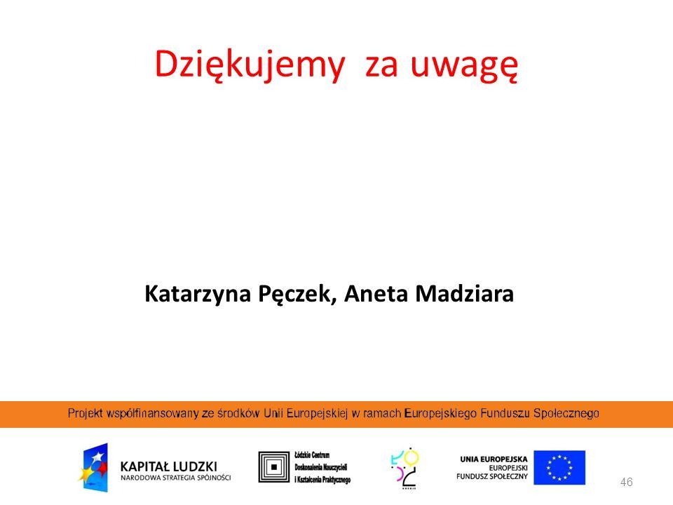 Katarzyna Pęczek, Aneta Madziara