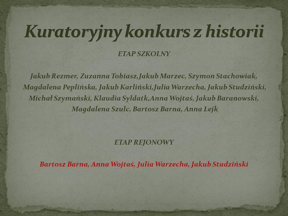 Kuratoryjny konkurs z historii